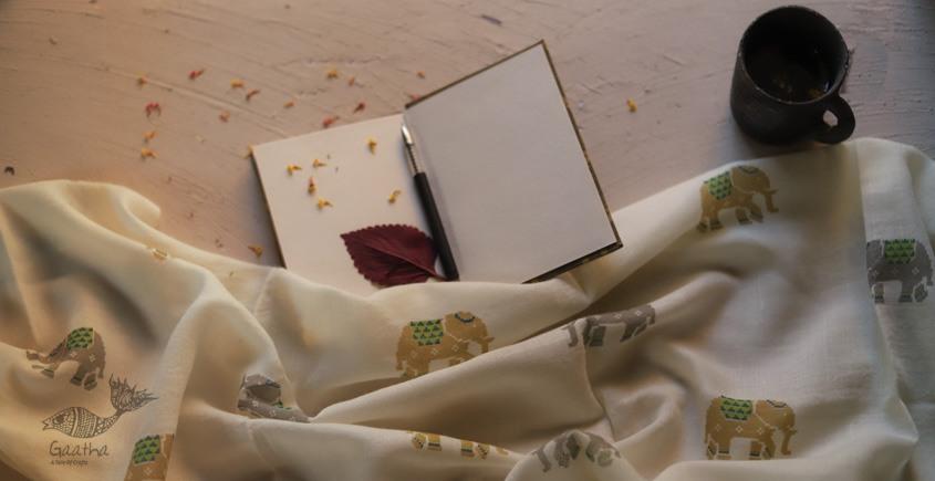 Vishwa ❤ Angora Wool ❤ Printed Stole ~ 1