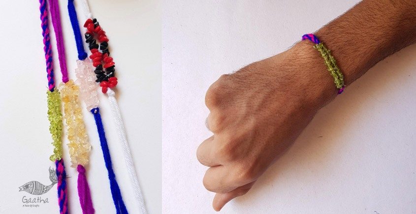 shop online exclusive Agate Stones Rakhi (Set of 4)