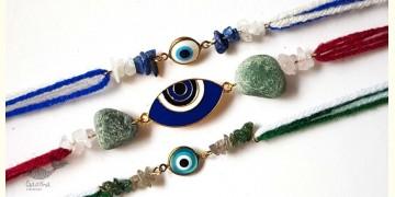 Raksha ☯ Bold Blue Evil  Eye Rakhi (Set of 3) ☯ 3