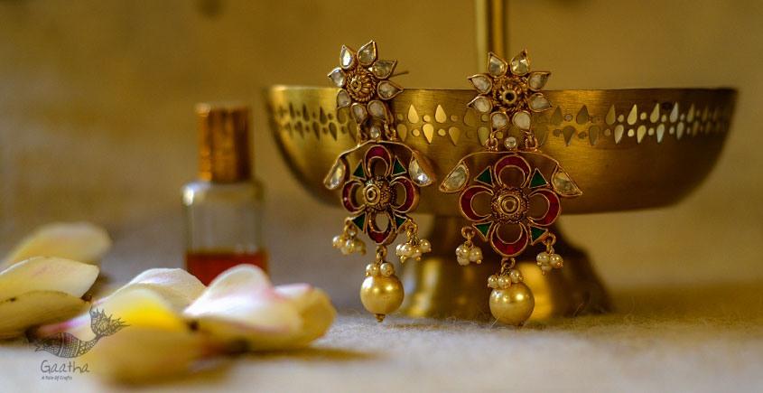 श्रीरूपा  | Silver Earring | Chandrika ~ 19