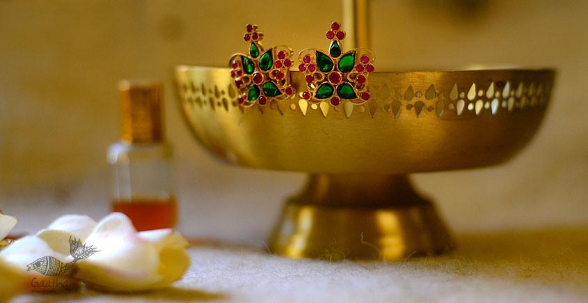 श्रीरूपा    Silver Earring   Emerald Studs ~ 9