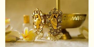 श्रीरूपा    Silver Earring   Morni Studs ~ 47