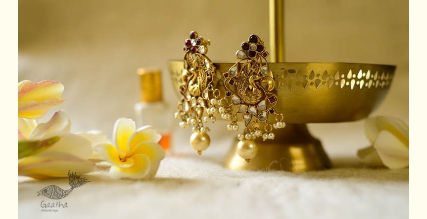 श्रीरूपा  | Silver Earring | Peacocks Throne ~ 42
