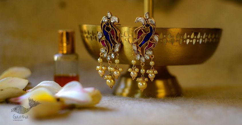 श्रीरूपा  | Silver Earring | Peahen ~ 23