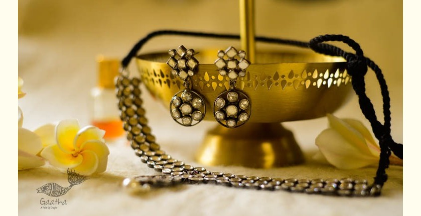 श्रीरूपा  | Silver Necklace with earring | Dasaprakash ~ 49