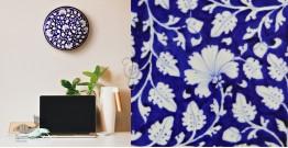 Azur ᴥ Blue Pottery Floral Plate ᴥ L
