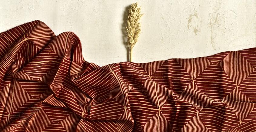 Shruti ❋ Ajrakh Modal Silk Stole ❋ D
