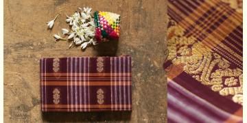 मलय ✽ Handloom Cotton Zari Saree With Buti ✽ 13