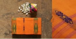 मलय ✽ Handloom Cotton Zari Saree With Buti ✽ 18