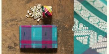 मलय ✽ Handloom Cotton Zari Saree With Buti ✽ 19