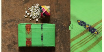 मलय ✽ Handloom Cotton Zari Saree With Buti ✽ 20