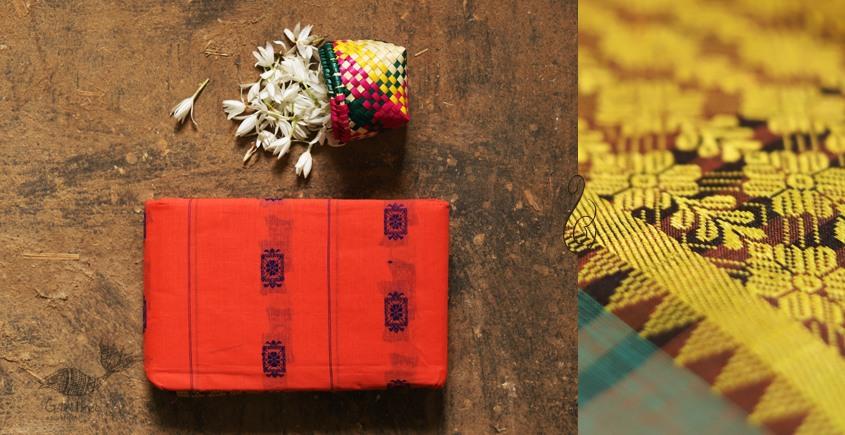 मलय ✽ Handloom Cotton Zari Saree With Buti ✽ 23