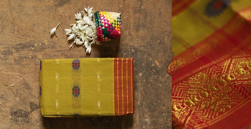 मलय ✽ Handloom Cotton Zari Saree With Buti ✽ 29