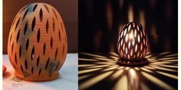 Mittihub ☢ Terracotta ☢ Oval Tea Light Holder