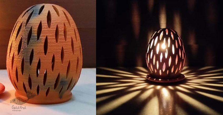 Terracotta Handmade Kitchenware- Oval Tea Light Holder