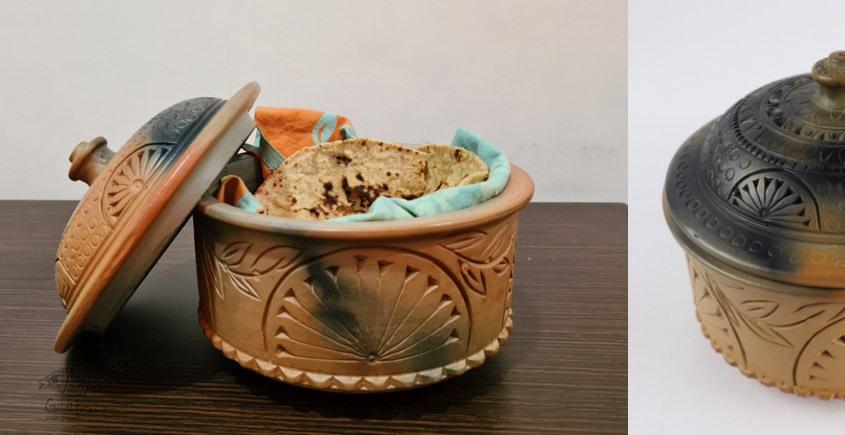Terracotta Handmade Kitchenware- Roti Box