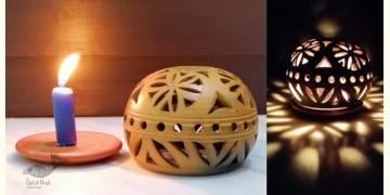 Mittihub ☢ Terracotta ☢ Round Tea Light Holder