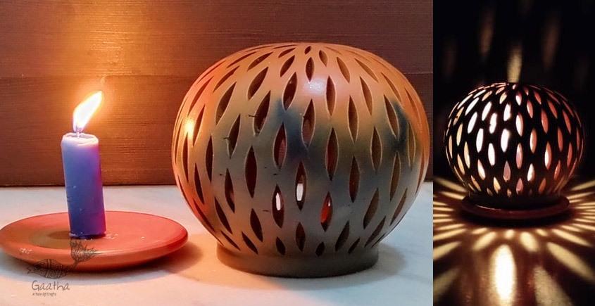 Terracotta Handmade Kitchenware- T Light Holder - Semi Oval