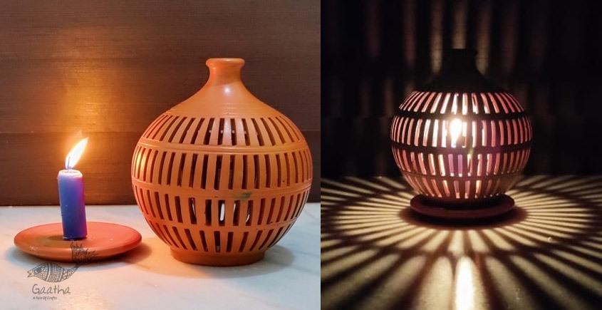 Terracotta Handmade Kitchenware- Tea Light Holder - Semi Oval