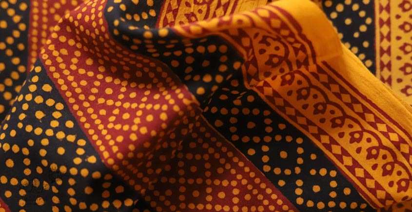 Bagh Printed Cotton Fabric (2.5 Mtr.) ❁ 15