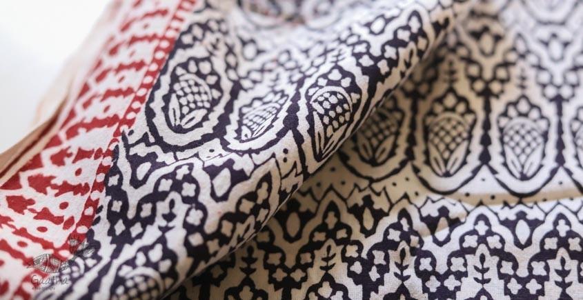 shop online bagh printed Cotton Kurta Fabric - black and cream printed