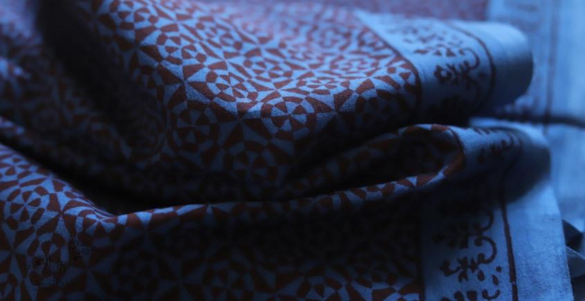 shop online bagh printed Cotton Kurta Fabric  - blue print