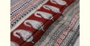 shop online Bagh Block printed cotton Chanderi saree in black and red color  with zari border