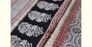 shop online Bagh Block printed cotton Chanderi saree in flower block with zari border