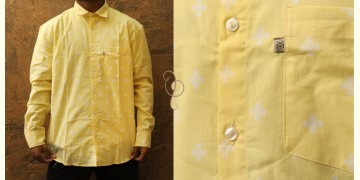 रंगरेज / Rangrez ❂ Block Printed . Fine Cotton Shirt  (Full Sleeve )❂ 16