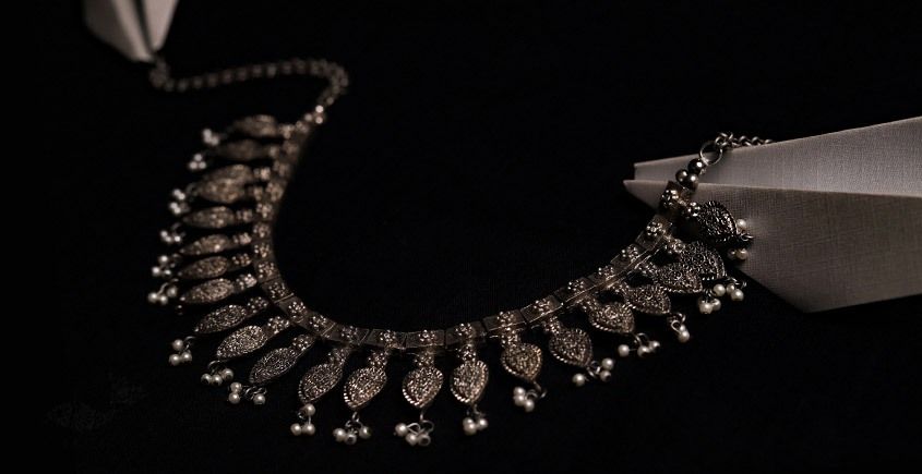 रेवती ✽ Patta Choker with Pearl Hangings ✽ Necklace ✽ 2