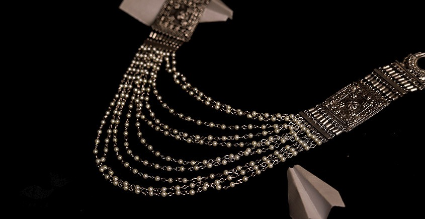 रेवती  ✽ Queens Necklace with Pearls ✽ Necklace ✽ 12