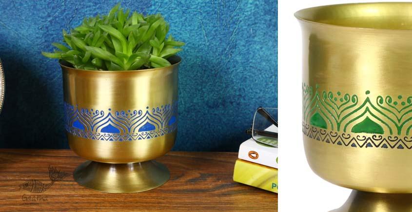 shop online Brass Indoor Vase Planter