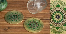 Nakshikathaa ✠ Brass Coaster - Set of 2 ✠ 5