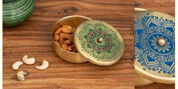 Nakshikathaa ✠ Brass Nut Bowl / Storage Container ✠ 2