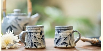 Nakshikathaa ✠ Light Blue Mugs - Set of 2