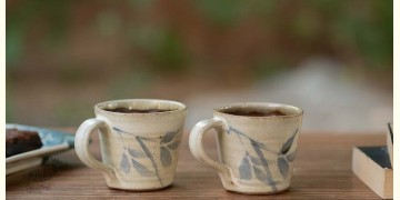 Nakshikathaa ✠ White and Blue Cups - Set of 2