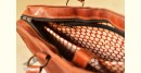 The nomad within me ♠ Kutchi Leather Bags - Brown bag emboss work ♠ 15