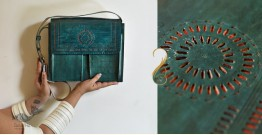 The nomad within me ♠ Kutchi Leather Bags - Green punch work ♠ 2