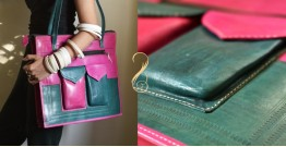 The nomad within me ♠ Kutchi Leather Bags ♠ Pink Emerald Tote ♠ 4
