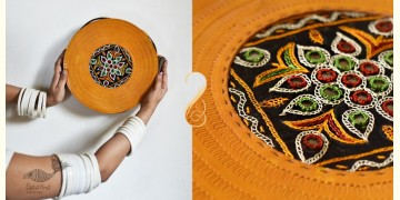 The nomad within me ♠ Kutchi Leather Bags - Round Yellow Sling ♠ 5