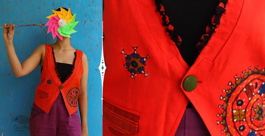 Joyta ❤ Woolens ~ Orange waist coat ~ 18