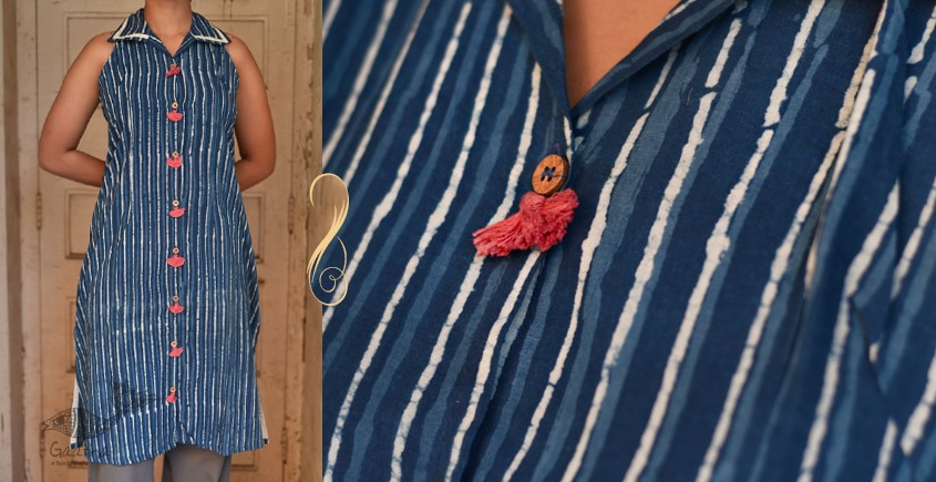 Ayoni ☘ Blue stripe kurta ~ 4