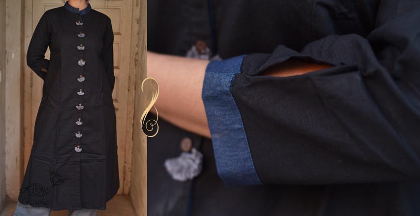 Ayoni ☘ Classic black tunic kurta ~ 6