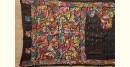 Kantha Embroidered Silk Saree  - Black