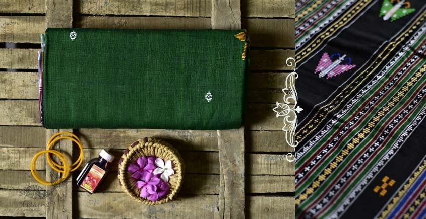 Shop handloom thalapathara cotton green saree