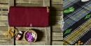 Shop handloom thalapathara cotton maroon saree