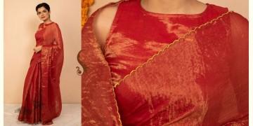 उत्सव  ✻ Tissue Chanderi Silk Saree ✻ 32