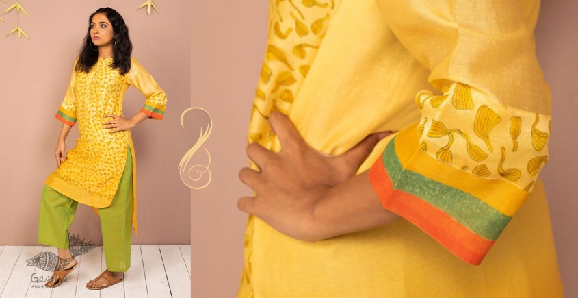 उत्सव  ✻ Chanderi silk Block Printed Kurta ✻ 11