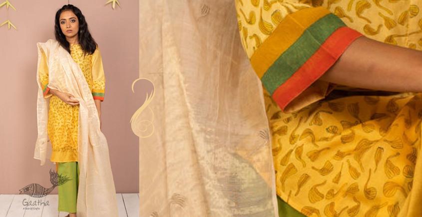 उत्सव  ✻ Chanderi Silk Kurta with Pant & Dupatta - ( Set of 3 ) ✻ 10