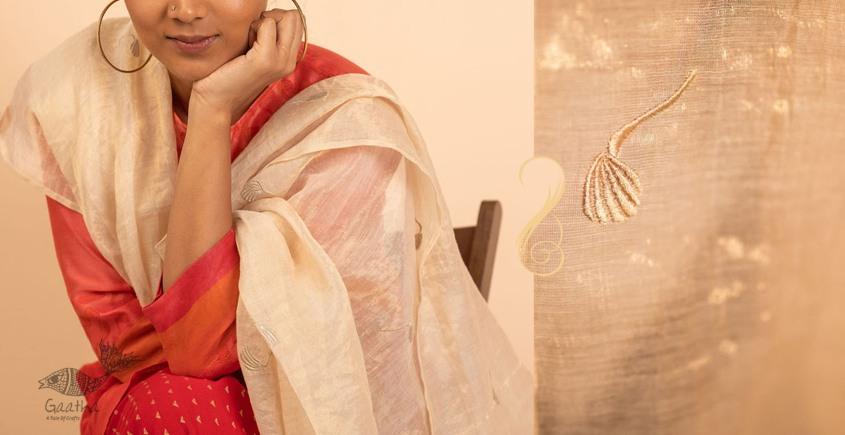 उत्सव  ✻ Tissue Chanderi Silk Embroidered Dupatta ✻ 13